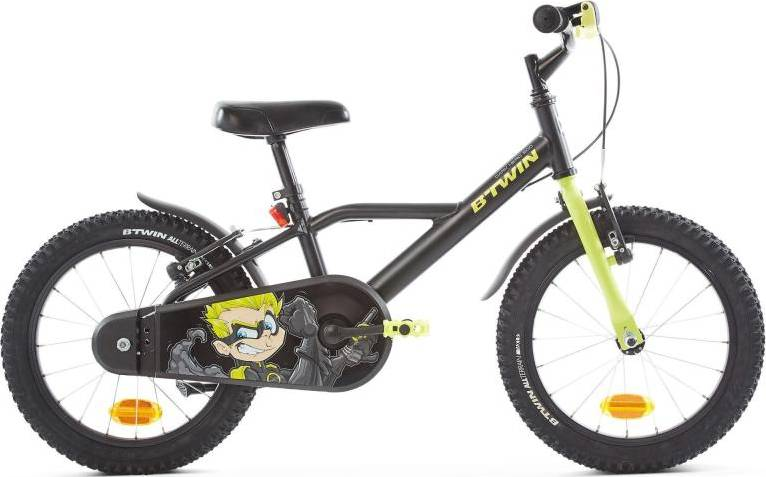 2020 B'TWIN 500 Dark Hero Kids Bike - 16""