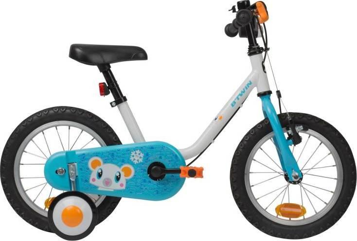 "2020 B'TWIN 500 Kids Bike, Arctic - 14"""