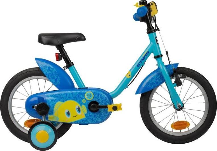 "2020 B'TWIN 500 Kids Bike, Ocean - 14"""