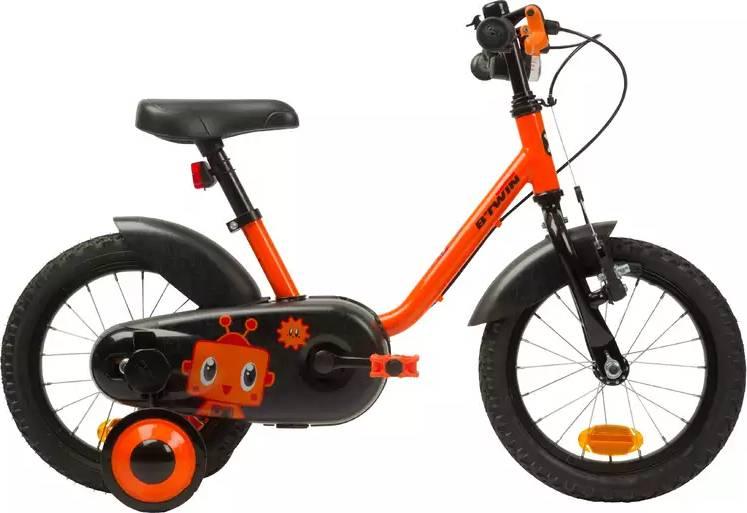 "2020 B'TWIN 500 Kids Bike, Robot - 14"""